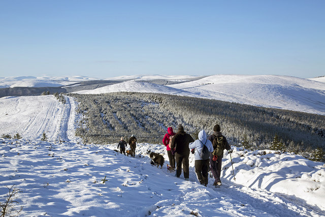Winter walking on the Southern Upland Way