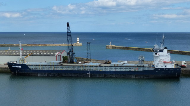 Beaumonde cargo vessel at South Dock, Seaham Harbour