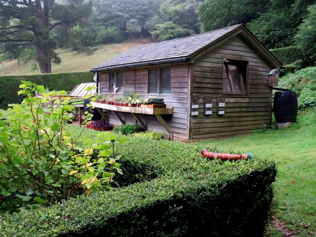 The potting shed at Mottistone Manor