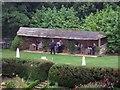 SZ4083 : The Tea Garden at Mottistone Manor by Steve Daniels