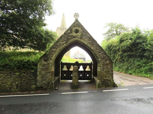 The lych gate at St Peter & St Paul Church in Mottistone