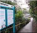 ST1882 : Path into Llanishen railway station, Cardiff by Jaggery