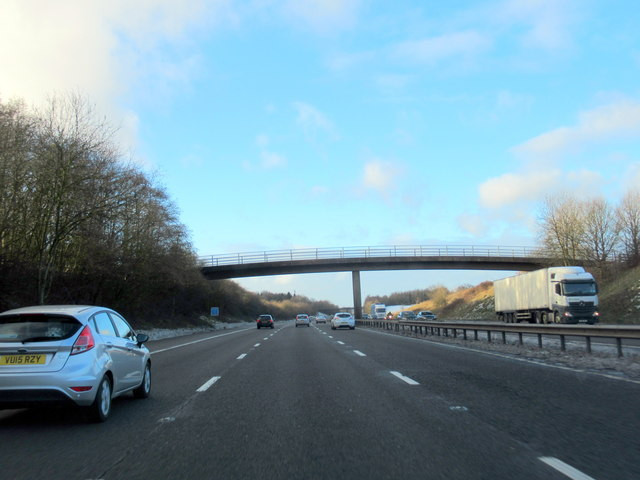 M40 Motorway North Farm Overbridge For Great Pinley Farm