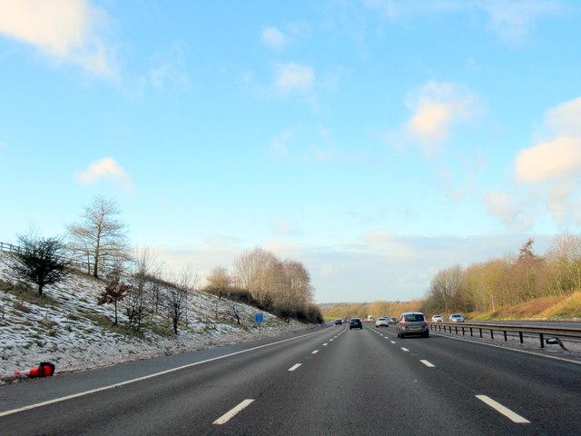 M40 Motorway North Near Shrewley