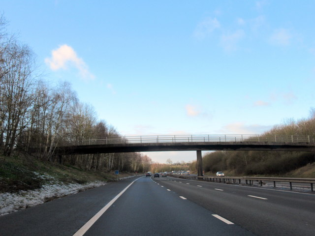 M40 Motorway North Farm Overbridge Near Highfields Farm