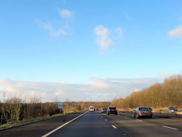 M40 Motorway Northbound Near Turners Green