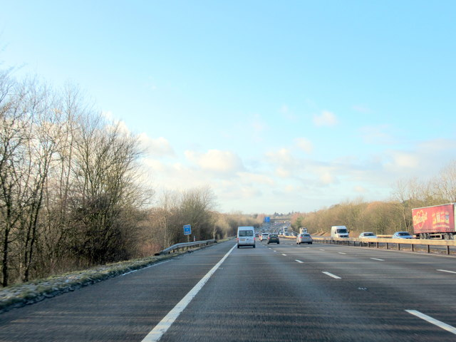 M40 Motorway Near Lapworth