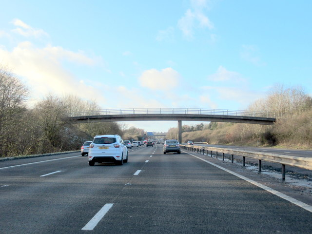 Footbridge Over M40 Motorway