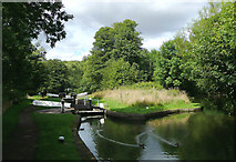 SO8685 : Stourton Bottom Lock in Staffordshire by Roger  Kidd