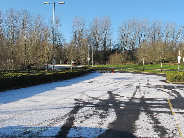 Norton Canes services overflow car park with snow