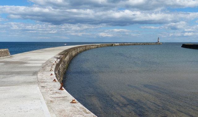 North Pier and the Outer Harbour at Seaham