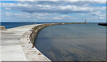 NZ4349 : North Pier and the Outer Harbour at Seaham by Mat Fascione