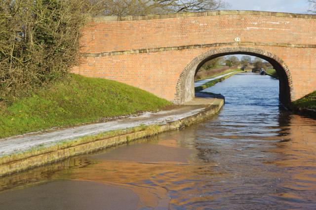 Clive Green Bridge, Middlewich Branch Canal