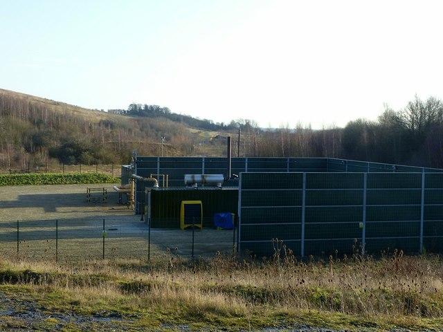 Methane capture power plant
