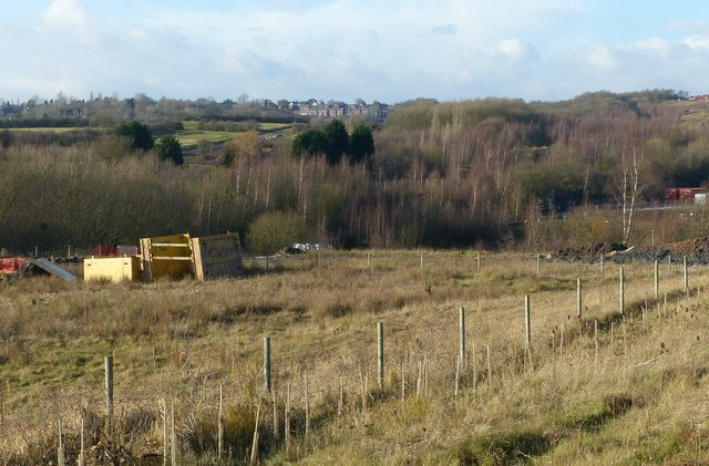 View over the colliery site to Mapperley Plains