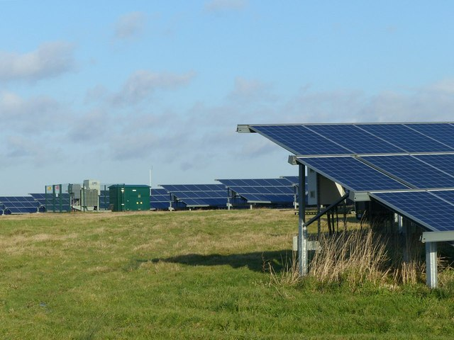 The solar farm on the top of the tip