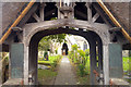 TF2925 : Lych gate and war memorial at St Mary's, Weston, Lincolnshire by Phil Champion