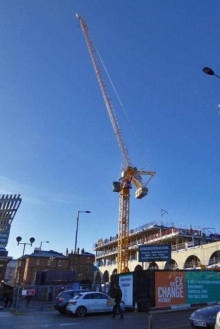 Building site crane, Aylesbury