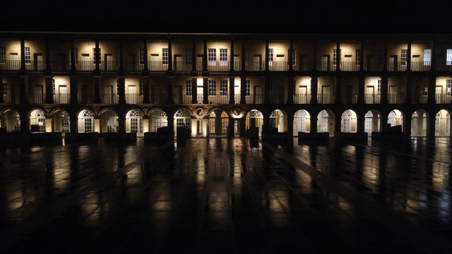 Halifax Piece Hall by night