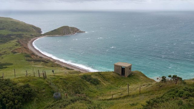 Worbarrow bay and Worbarrow Tout from Flower's Barrow Hill Fort, Dorset