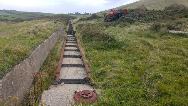 Disused moving target railway near Arish Mell, Lulworth Ranges