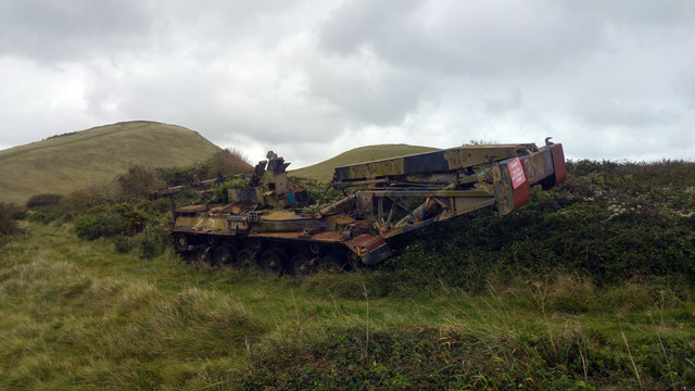 Tracked vehicle (target 25) - Lulworth Ranges, Dorset