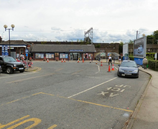 Entrance to Wilmslow Station