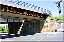 SE1537 : Low Well railway bridge SBF-47 over Briggate by Roger Templeman