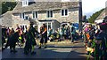 SY9682 : Morris dancers at Corfe Castle, Isle of Purbeck by Phil Champion