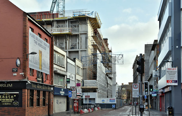 Commonwealth House redevelopment, Belfast (December 2017)