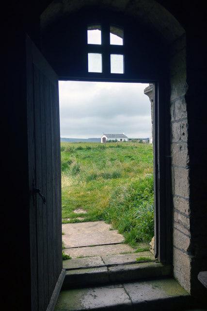 Doorway at St Aldhelm's Chapel, Worth Matravers, Dorset