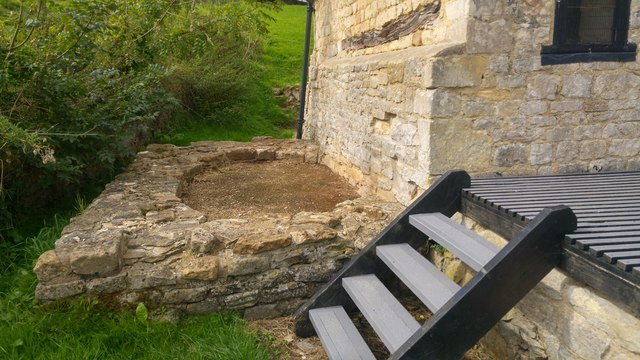 Remains of part of the lower bath house - Great Witcombe Roman Villa, Gloucestershire