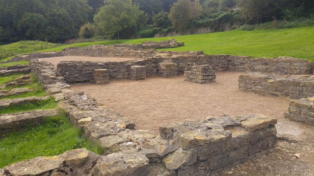 Central range at Great Witcombe Roman Villa, Gloucestershire