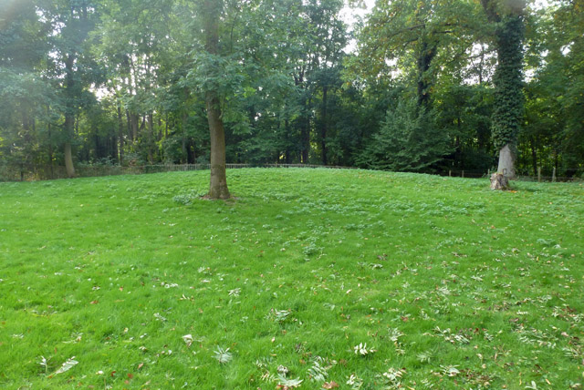 Levelled remains of tumulus, Bartlow Hills
