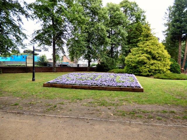 Flower bed at Fletcher Moss Park