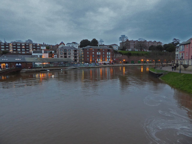 The Quay, Exeter at Dusk