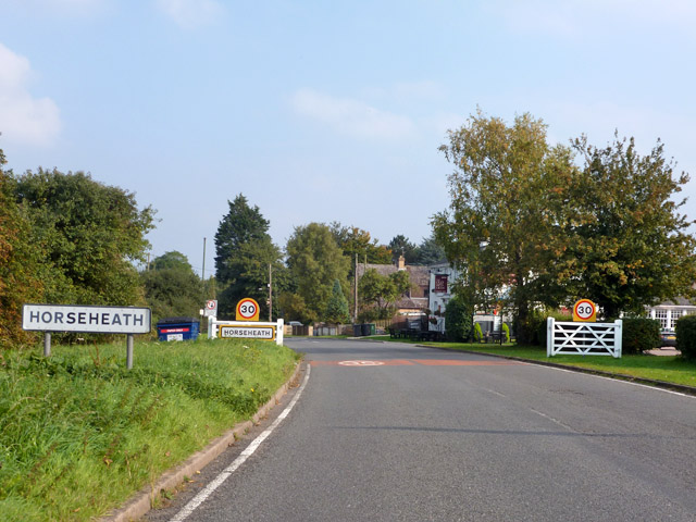 Entering Horseheath from the west