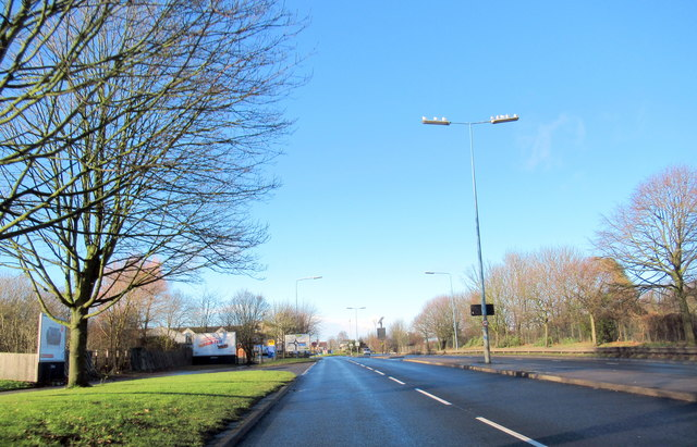 Smethwick  A457 Tollhouse Way Approaching Island For Telford Way