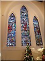 NJ6202 : Stained glass lancet windows by Stanley Howe