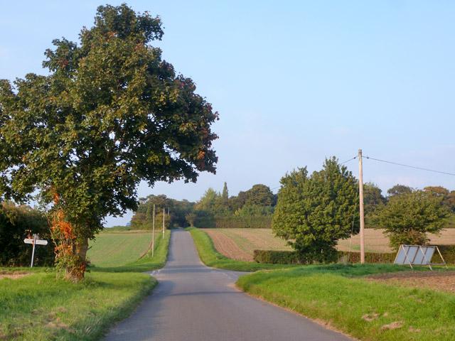 Rural crossroads, Westley Waterless