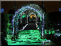 SJ7387 : Christmas at Dunham Massey - Pergolas in the Rose Garden by David Dixon
