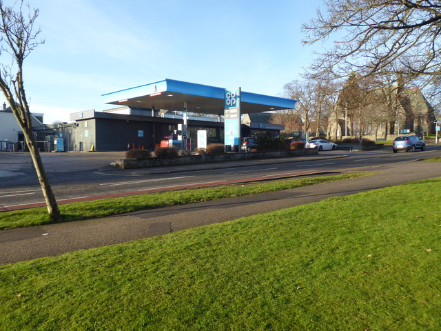 Co-op filling station on Springfield Road
