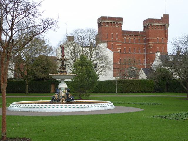 Vivary Park fountain and Jellalabad, Taunton