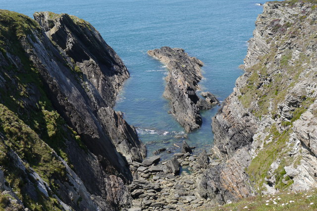 Geo east of Porth Ruffydd, Holy Island, Anglesey