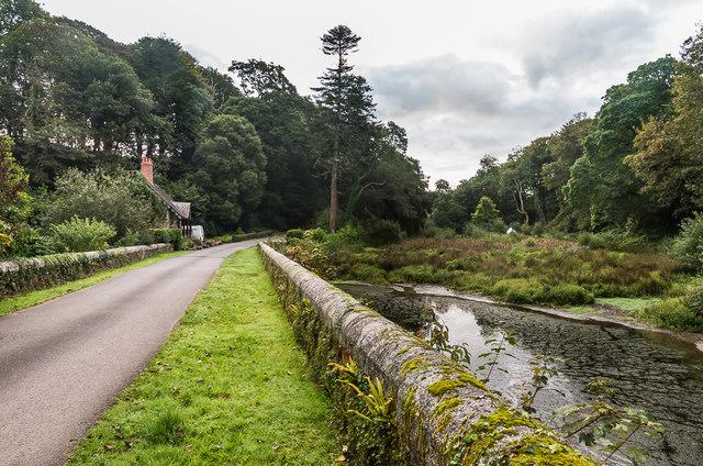 Pond Bridge and Lodge, Trelowarren