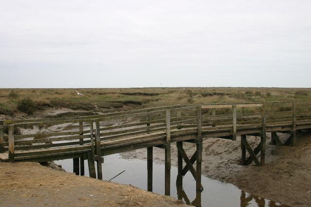 Bridge out to Stiffkey Meals