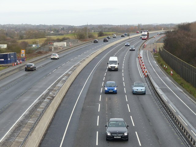 M1 passing Sawley