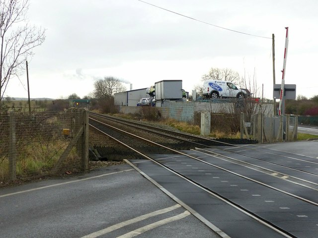 Sawley Level Crossing, looking east