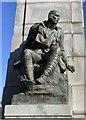 SD3128 : War memorial detail (1) by Gerald England