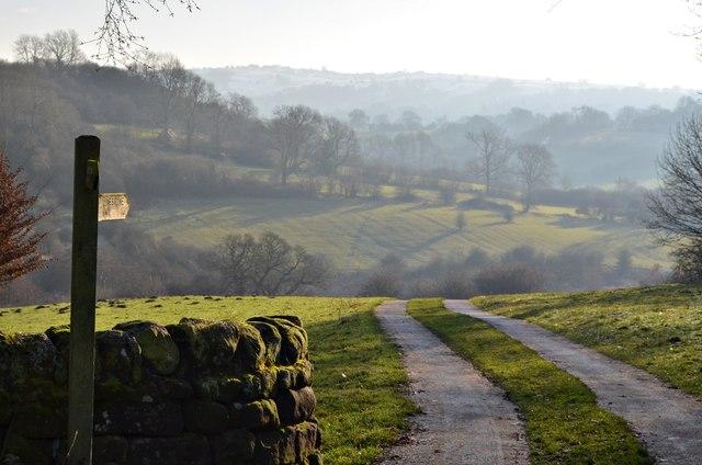 The Limestone Way Footpath, near Birchover, Derbyshire